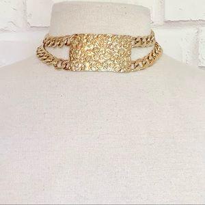 Filigree Design Double Chain Choker